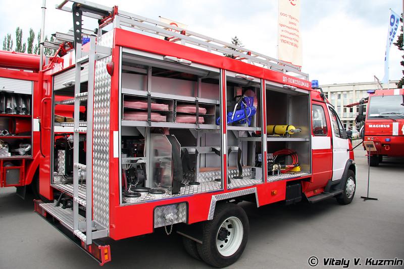 Автомобиль пожарный первой помощи АППД-2 (3310)-274 на шасси ГАЗ-331043 (First aid and fire truck APPD-2 (3310)-274 on GAZ-331043 chassis)