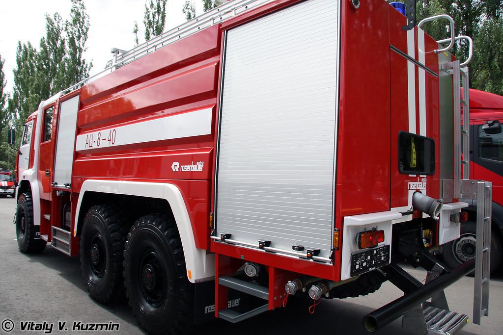 Пожарная автоцистерна АЦ 8-40 на шасси КАМАЗ-65224 (ATs 8-40 fire truck on KAMAZ-65224 chassis)