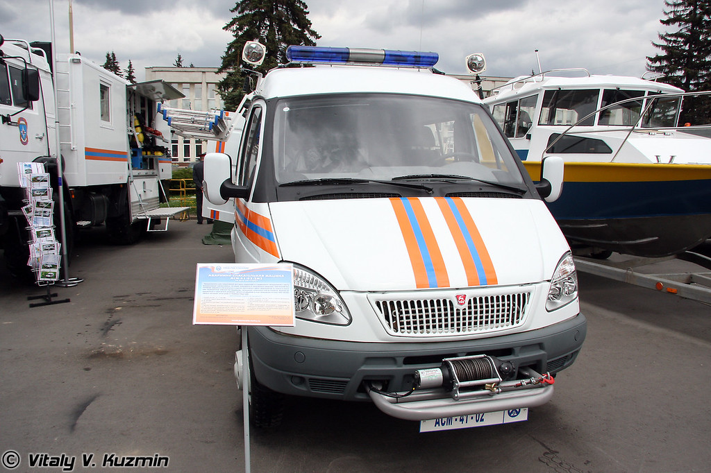 Аварийно-спасательная машина АСМ-41-02-2M2 на базе ГАЗ-27057 (Search-and-rescue emergency vehicle ASM-41-02-2M2 on GAZ-27057 chassis)