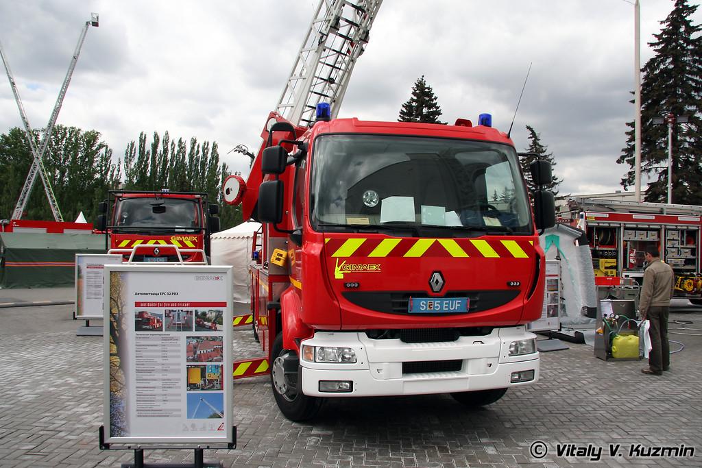 Автолестница пожарная EPC 32 PRX на шасси Рено (Fire ladder EPC 32 PRX on Renault chassis)