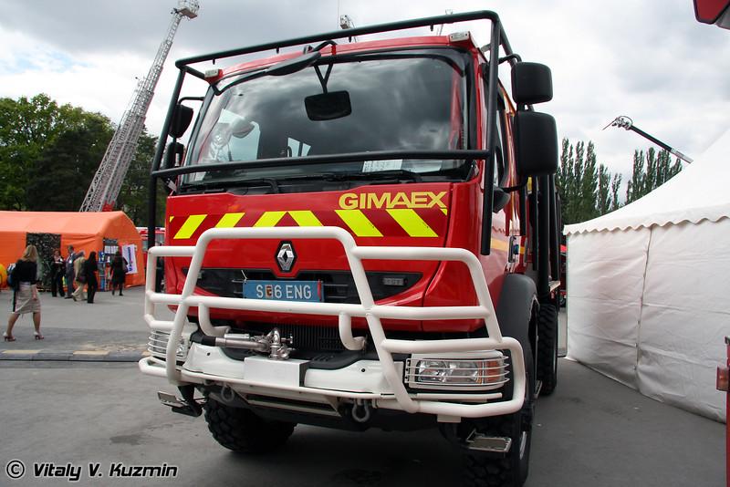 Лесопожарная автоцистерна на шасси Renault MIDLUM 240.12 CCF-4x4 (Truck for forest fires on Renault MIDLUM 240.12 CCF-4x4 chassis)
