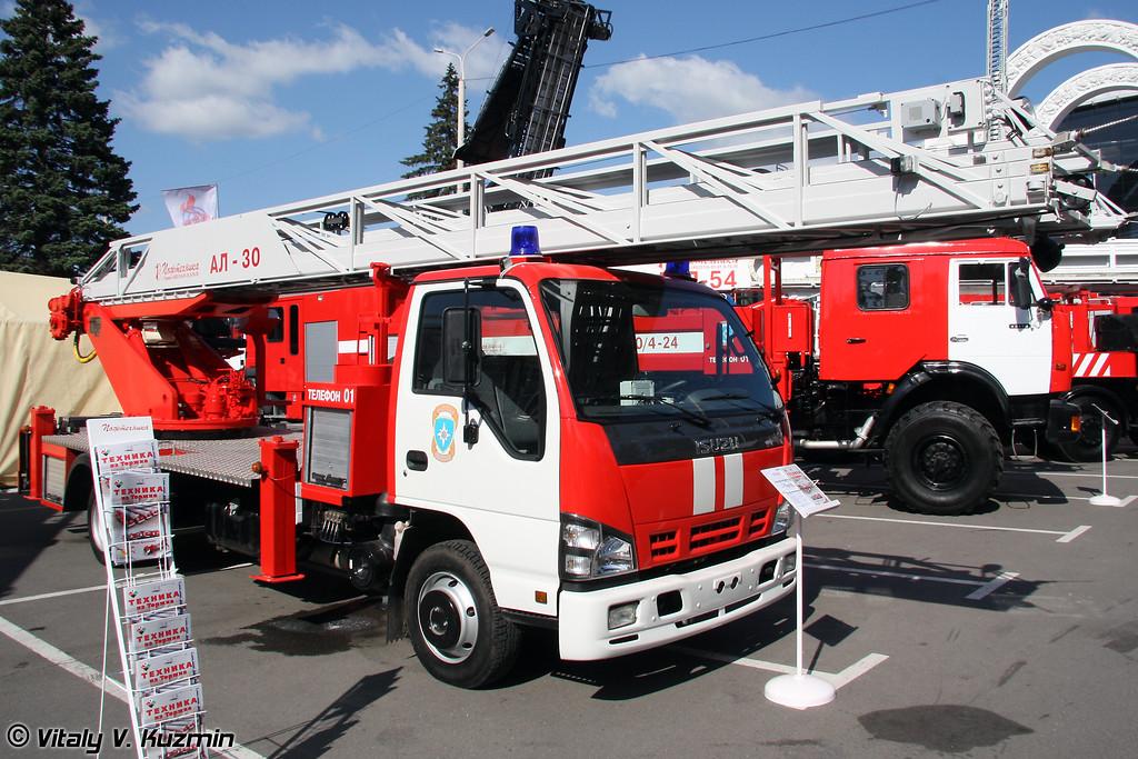 Автолестница пожарная АЛ-30 (Fire fighting vehicle AL-30)