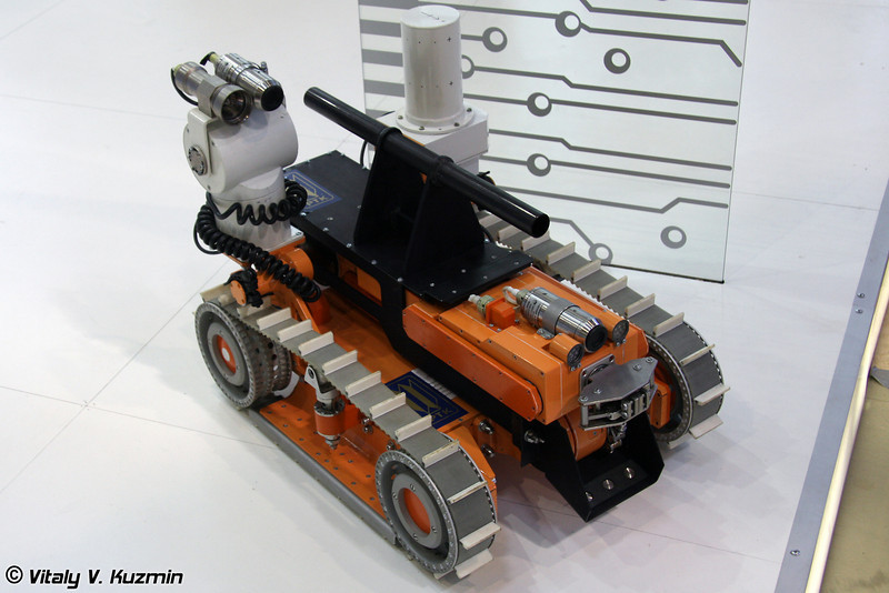 Робот для обнаружения и эвакуации локальных источников гамма-излучения РТК-07 (Robot for gamma radiation detection RTK-07)
