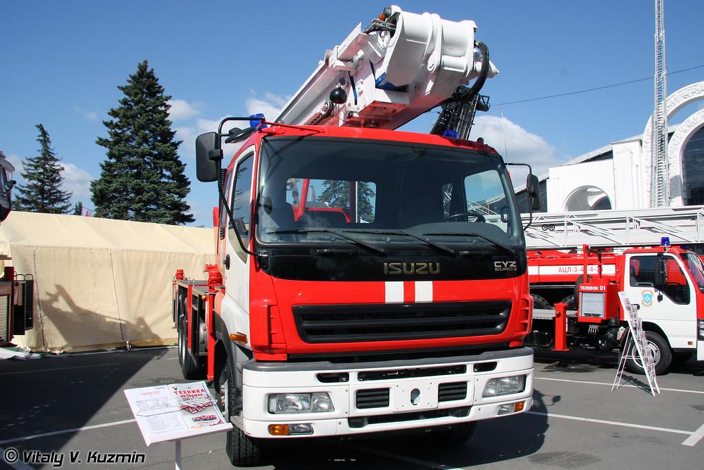 Автоподъемник пожарный АКП-32 (Fire fighting vehicle AKP-32)