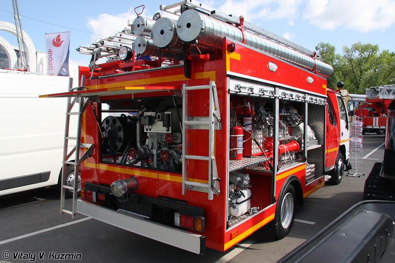 Автоцистерна пожарная АЦ 2,0-40/2 на базе ISUZU NQR75P (Fire fighting vehicle ATs 2,-04/2)