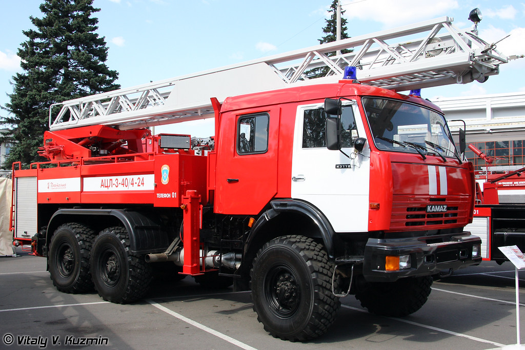 Автоцистерна пожарная с лестницей АЦЛ-3-40/4-24 (Fire fighting vehicle ATsL-30-40/4-24)