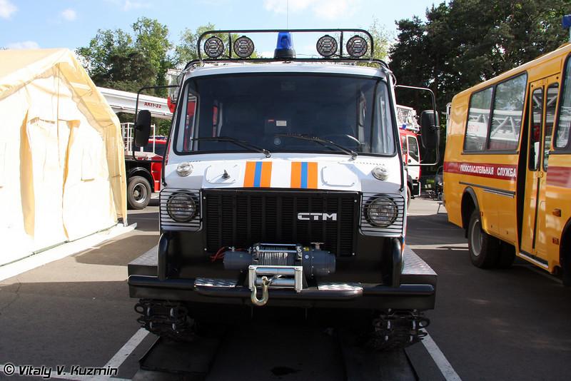 Гусеничный двухзвеньевой вездеход ТТС 3404 Ужгур (Track-type all-terrain vehicle TTS 3404 Uzhgur)