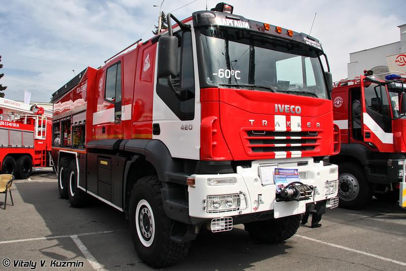 Пожарно-спасательный автомобиль ПСА-С6,0-40/100 на шасси IVECO AMT-6339 (Firefighting vehicle PSA-S6,0-40/100 on IVECO AMT-6339 chassis)