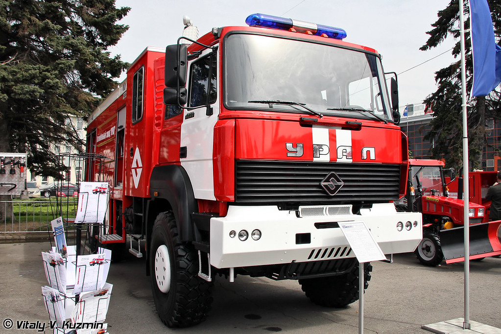 "Автоцистерна АЦ-8,0-67 ""УРАЛ-Катмерджилер"" на шасси УРАЛ-63701 (Fire fighting vehicle ATs-8,0-67 URAL-Katmerciler on URAL-63701 chassis)"