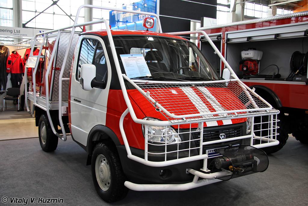 Малый лесопатрульный комплекс на базе ГАЗ-23107 (Forest patrol vehicle on GAZ-23107 chassis)