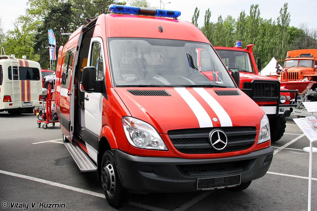 Пожарно-спасательный автомобиль ПСА-ММ на шасси MB Sprinter 515CDI (Emergency vehicle PSA-MM on MB Sprinter 515CDI chassis)