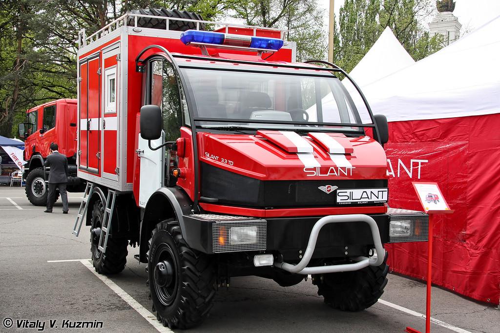 Малый лесопатрульный комплекс для участия в тушении лесных пожаров и патрулировании местности на базе Silant 3.3TD (Forest fires light vehicle on Silant 3.3TD chassis)