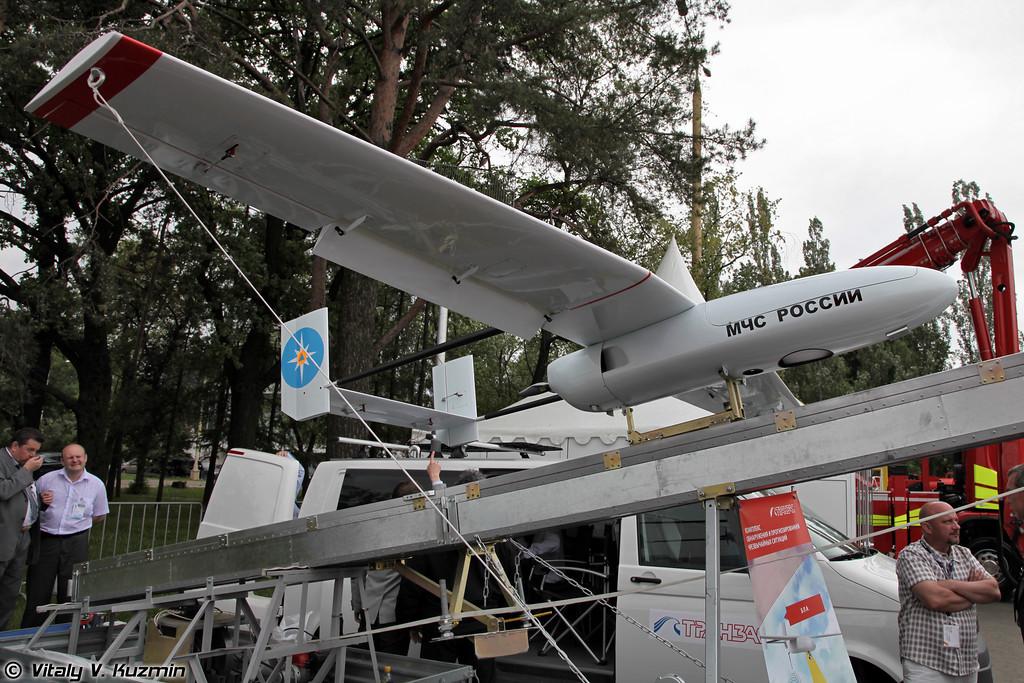 Комплекс обнаружения и прогнозирования природных пожаров на основе БПЛА Филин-2 разработки ЗАО Транзас (UAV Filin-2 designed by Tranzas company)