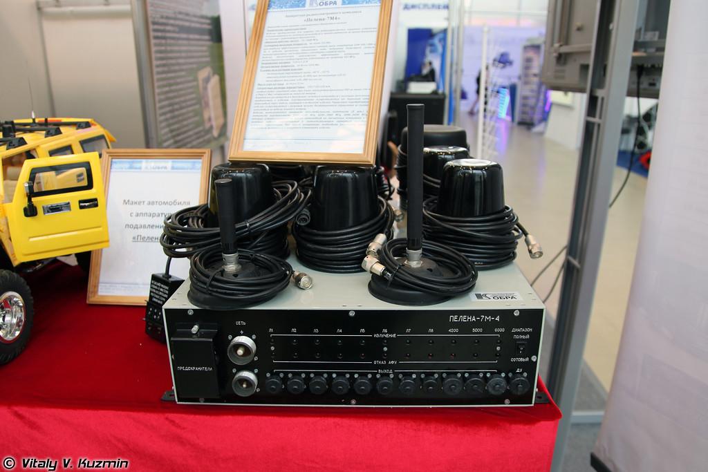 Блокиратор радиоуправляемых взрывных устройств в варианте для автомобилей и бронетехники Пелена-6БСФМ (Jamming device Pelena 6BSFM for armored vehicles)