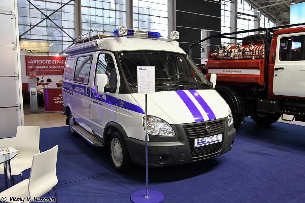 Криминалистическая лаборатория на базе ГАЗ-2752 (Criminalistics lab on GAZ-2752 base)