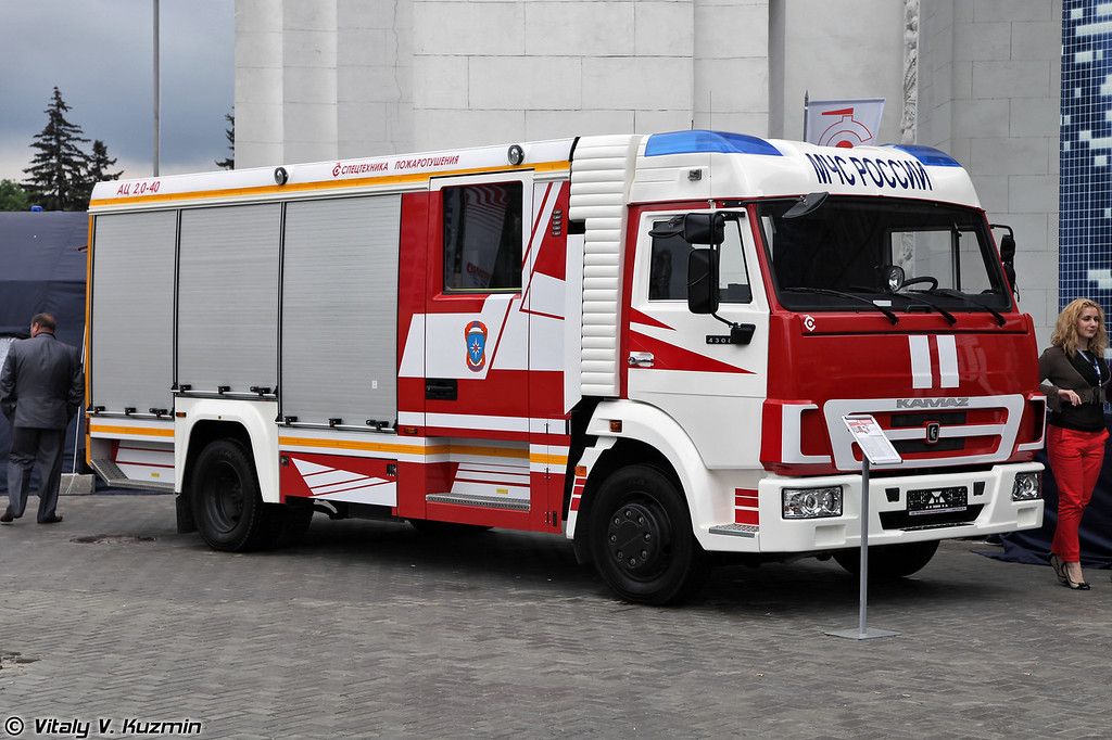 Автоцистерна пожарная АЦ-2,0-40 на шасси КАМАЗ-4308 (Fire fighting vehicle ATs-2,0-40 on KAMAZ-4308 chassis)