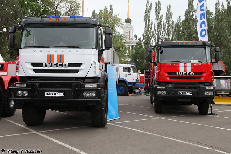 Спасательный и пожарный автомобили на шасси IVECO AMT (Emergency and fire fighting vehicles on IVECO AMT chassis)