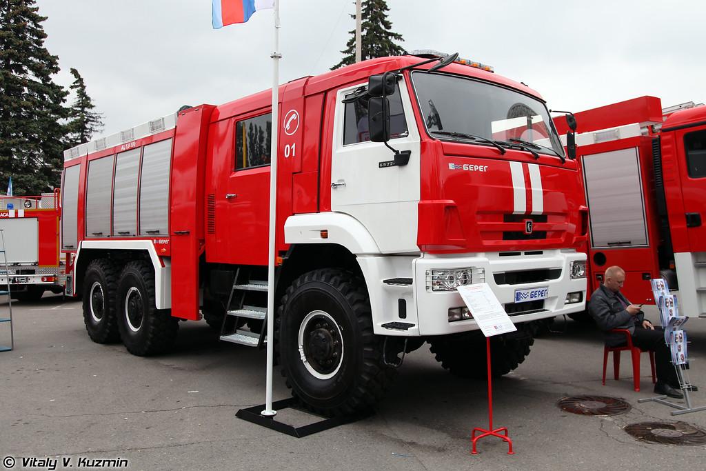 Автоцистерна пожарная АЦ-5,0-100 на шасси КАМАЗ-65224 (Firefighting vehicle ATs-5,0-100 on KAMAZ-65224 chassis)
