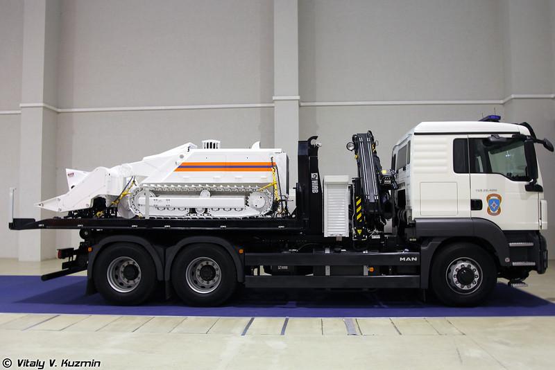 Робототехнический комплекс разминирования MV-4 (MV-4 robot system)