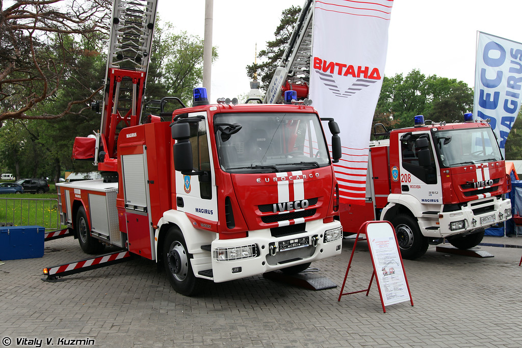Автолестница пожарная M 32 L-AS на шасси IVECO 160 E 30 (Aerial ladder platform on IVECO 160 E 30 chassis)