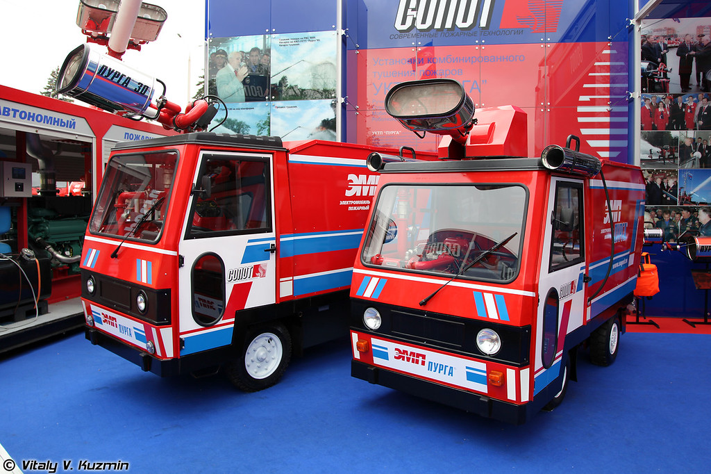 Электромобили пожарные с УКТП Пурга (Electric powered firefighting vehicles)
