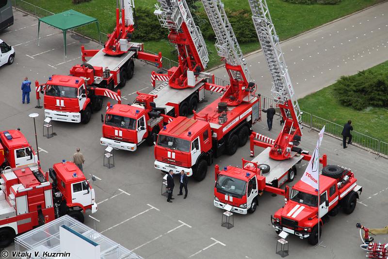 """Экспозиция ОАО """"Пожтехника"""" г. Торжок (Fire trucks)"""
