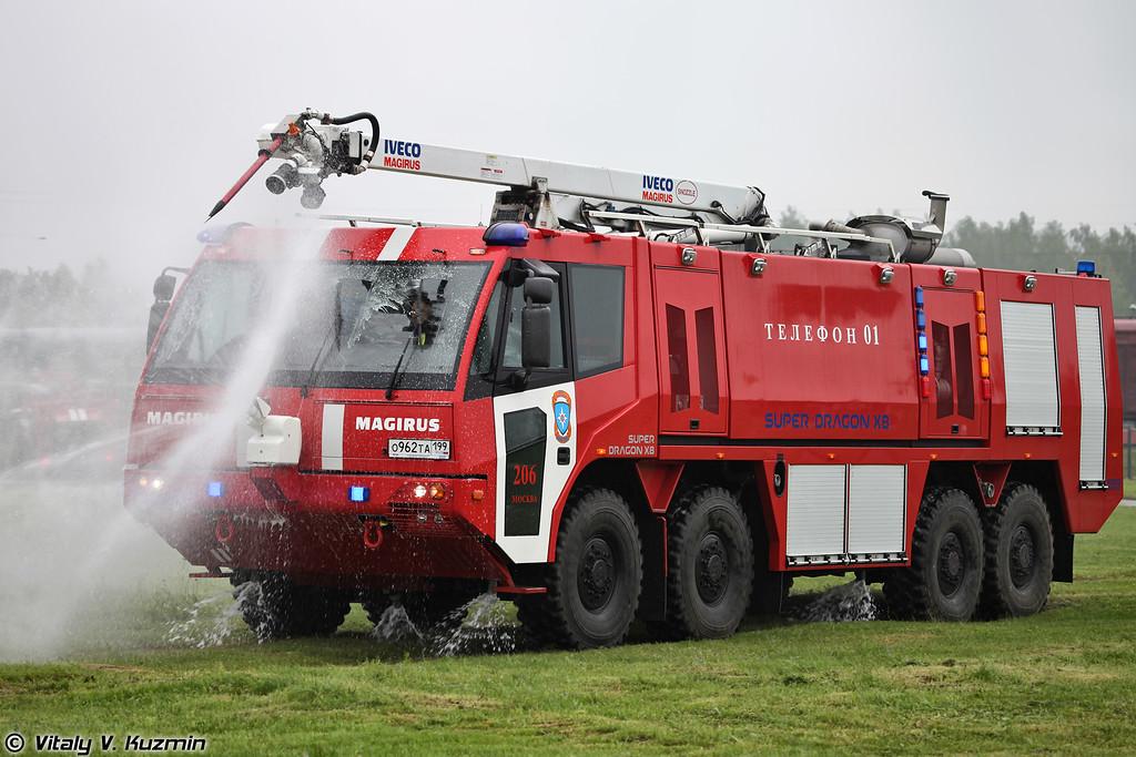 Аэродромный пожарный автомобиль Iveco Magirus Super Dragon X8