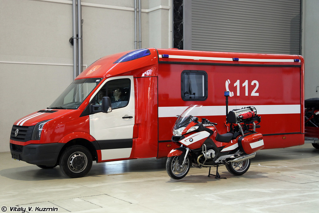 Пожарно-спасательный мотоцикл BMW R1200GS (BMW R1200GS fire fighting and emergency motorbike)