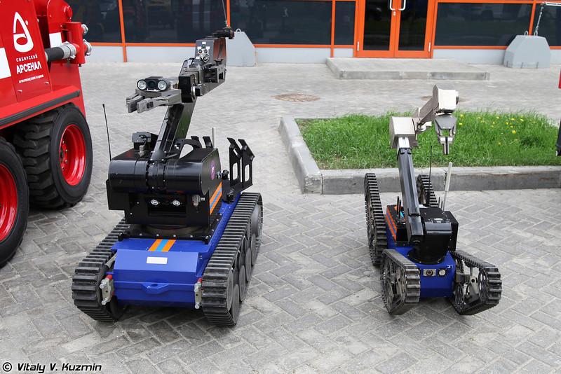 Мобильные робототехнические комплексы TeleMAX и tEODor (TeleMAX and tEODor robot systems)