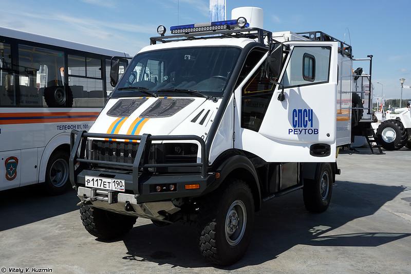 Автоматизированная мобильная система радиационной и химической разведки АМС-РХР (AMS-RKhR radiological and chemical recce vehicle)