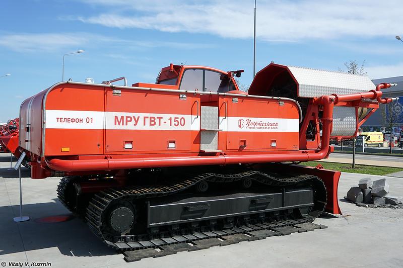 Мобильная роботизированная установка газоводяного тушения ГВТ-150 (GVT-150 fire fighting UGV)