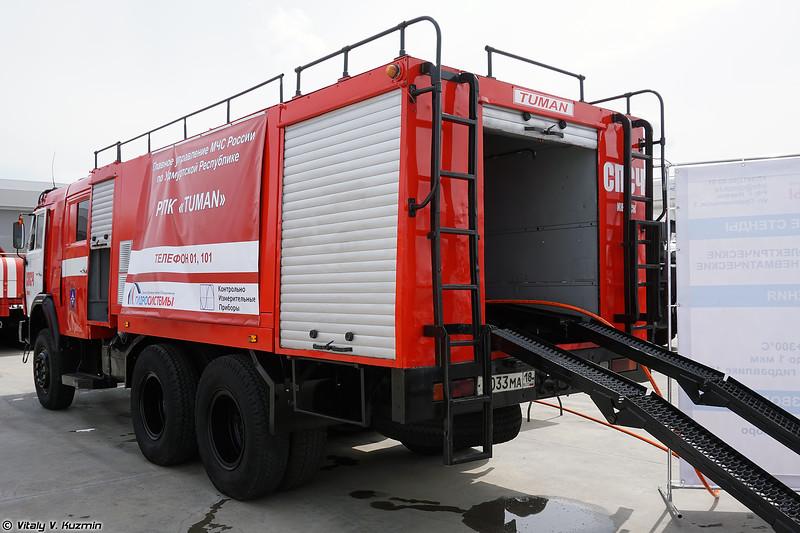 Роботизированный пожарный комплекс ТУМАН (TUMAN fire fighting UGV)