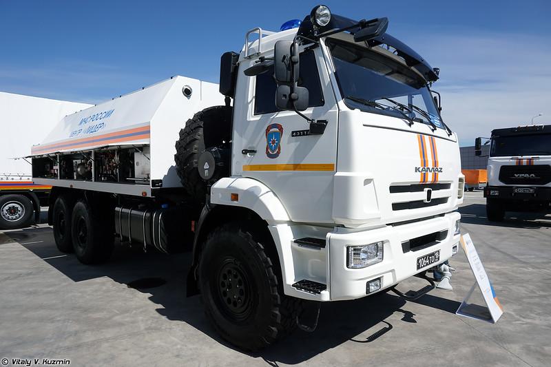 Мобильный комплекс специальной обработки/авторазливочная станция МКСО (MKSO decontamination vehicle)