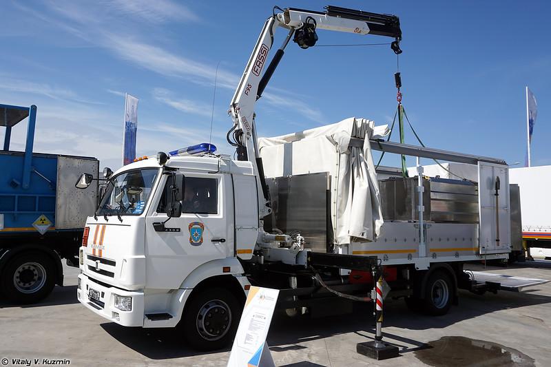 Машина транспортировки радиоактивных веществ и отходов МТРВО (MTRVO hazmat vehicle)