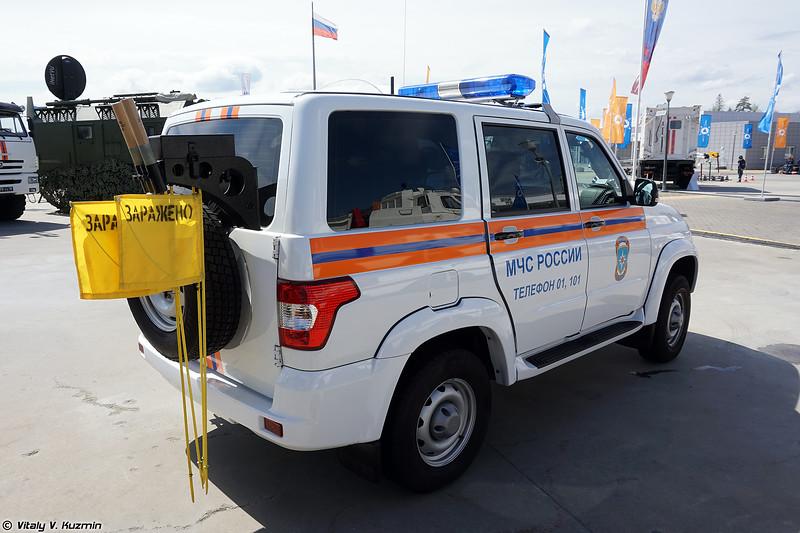 Автомобиль радиационной и химической разведки АМ-РХР (AM-RKhR radiological and chemical recce vehicle)
