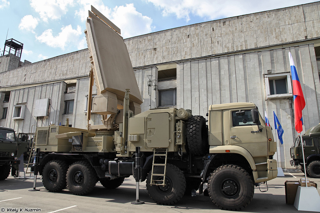 Радиолокационная станция обнаружения 1РЛ-123Е для ЗРПК Панцирь-С1. (New radar 1RL-123E for Pantsir-S1.)