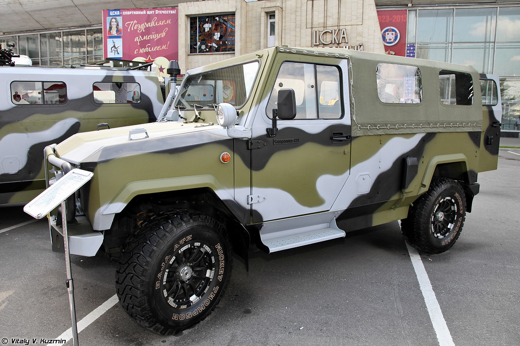 Скорпион-2М. (Skorpion-2M light tactical vehicle.)