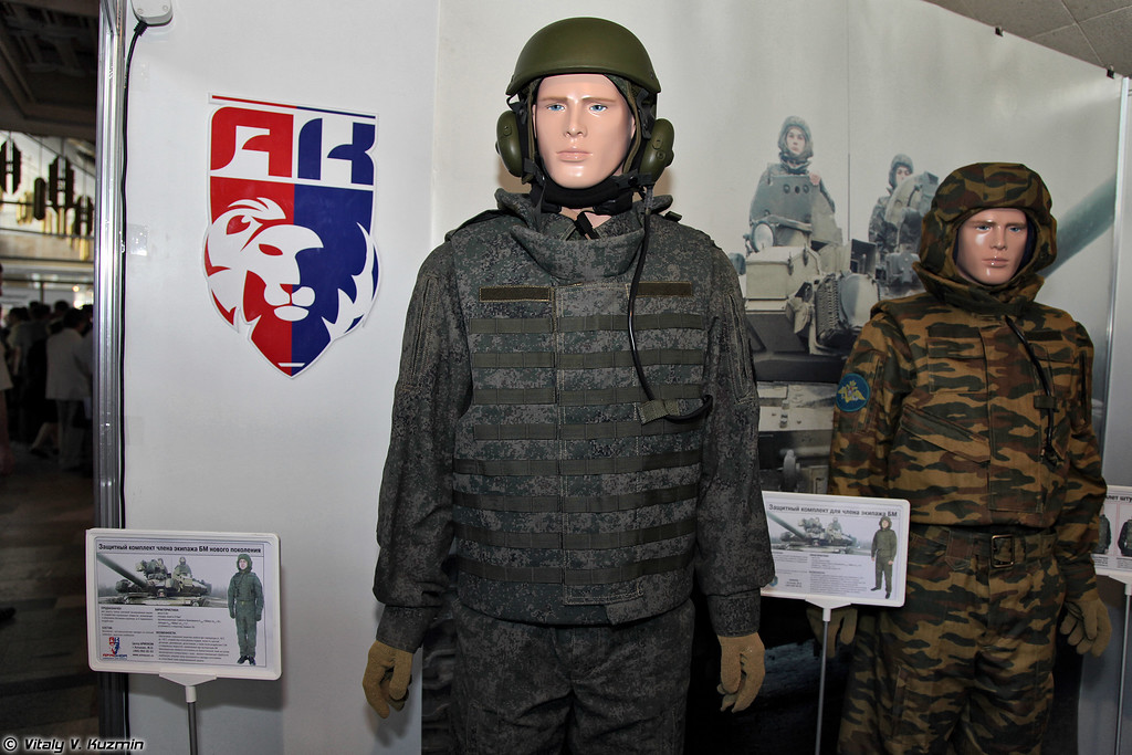 Модернизированный вариант защитного комплекта 6Б15 (Upgraded version of 6B15 vehicles crew protective suit)