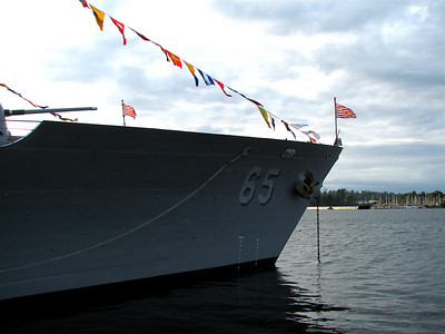 USS Chosin. Take that USS Chosin punk, I took more pictures of your ship. And now the terrorists are going to harness the power of your . . . anchor and flags. And destroy you. No, not your ship. Just you.