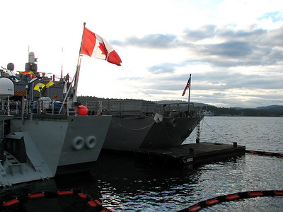 USS Ford (next to the HMCS Algonquin)