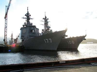 Japanese ships - JDS Atago and JDS Akebono