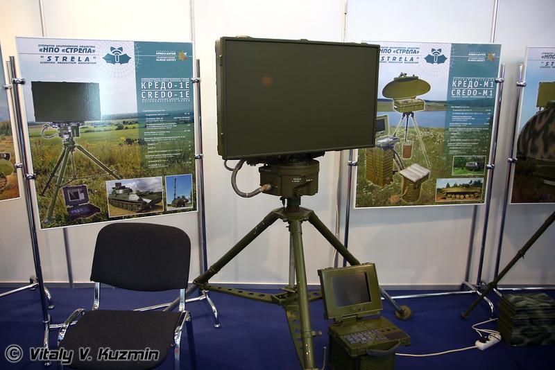 РЛС разведки движущихся наземных целей Кредо-1Е (Moving ground target reconnaissance radar Credo-1E)