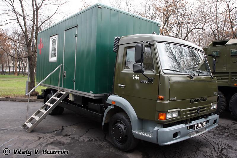 Подвижный флюрографический кабинет Камаз-57533 (Medical mobile fluorography cabinet on Kamaz-57533)
