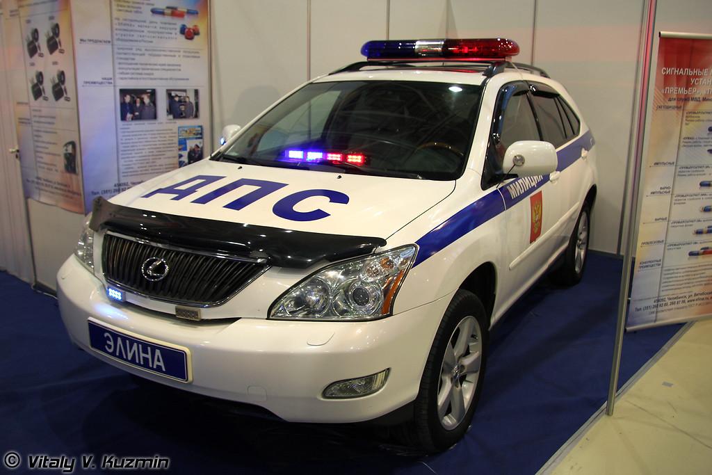Производители спецсигналов представили свою продукцию на Lexus RX 300 (Flashers for road police cars)