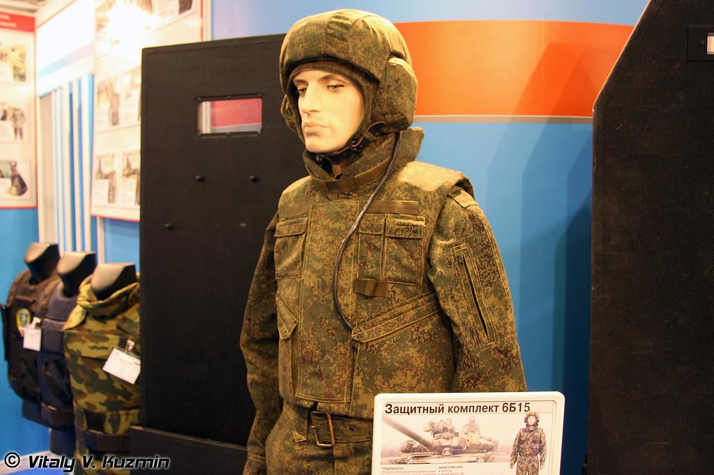 6Б15 комплект для защиты членов экипажей бронированных машин (6B15 protective kit for vehicles crew)