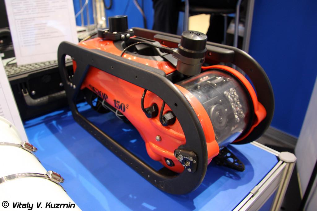 Миниатюрный телеуправляемый подводный аппарат ОБЗОР-150 (Submarine device OBZOR-150)