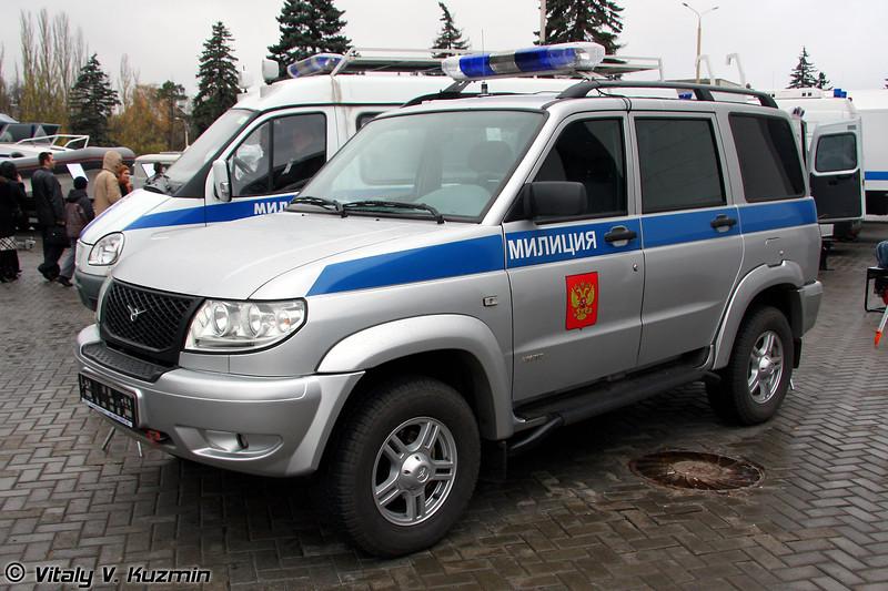 Патрульный спецавтомобиль УАЗ-3163-ППС (Patrol vehicle UAZ-3163-PPS)
