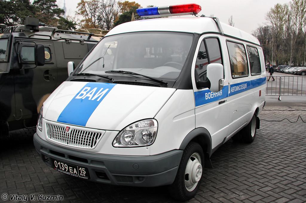 Подвижный пункт технического контроля транспортных средств на базе ГАЗ-2705 (Military road police transport control mobile post on GAZ-2705 base)
