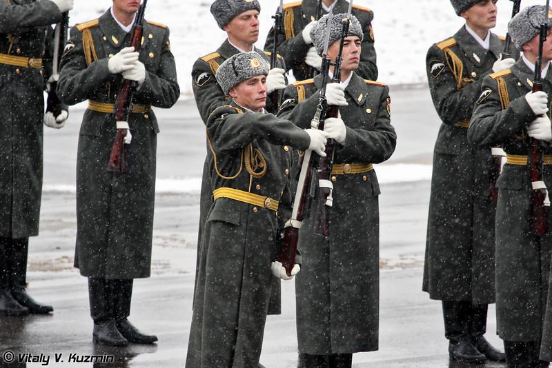 Выступление роты почетного караула. (Official ceremony. Honor Guards show)
