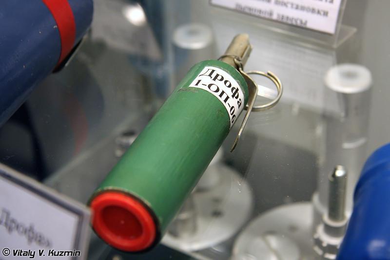 Ручная граната раздражающего и светозвукового воздействия Дрофа (Drofa flash and tear gas grenade)